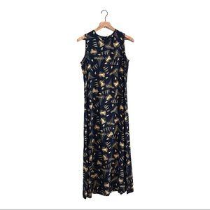 EUC Lauren Ralph Lauren Sailboat Silk Maxi Dress